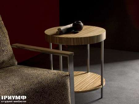 Бельгийская мебель JNL  - allegretto round zebrano side table