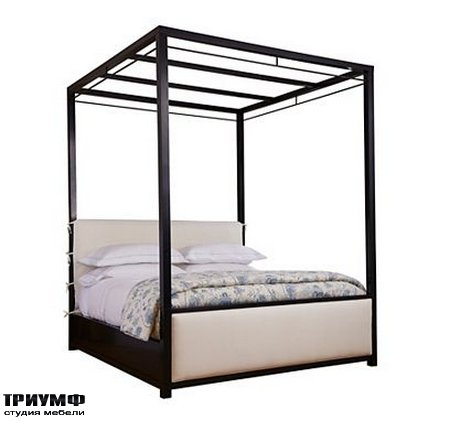 Американская мебель Henredon - Pacific Palisades King Upholstered Canopy Bed