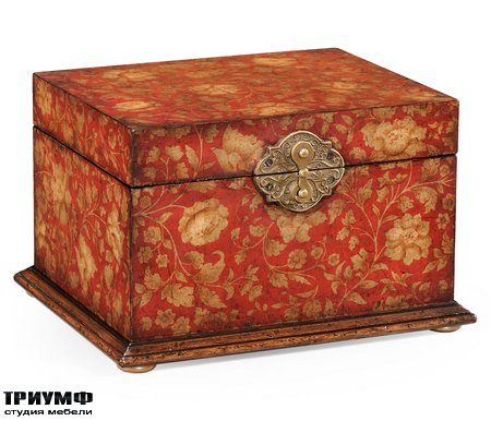 Американская мебель Jonathan Charles - Red Chinoiserie Jewellery Box