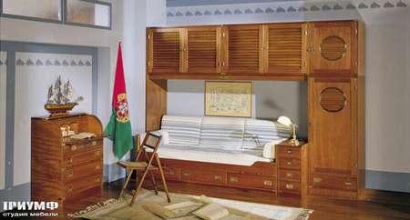 Итальянская мебель Caroti - Секретер и стенка в морском стиле