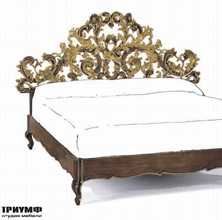 Итальянская мебель Chelini - Кровать стиль барокко