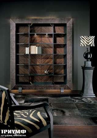 Итальянская мебель Smania - Шкаф книжный Bispy Deluxe, задняя стенка в палисандре