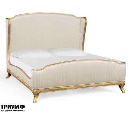 Американская мебель Jonathan Charles - Cali King Louis XV Gilded Bed