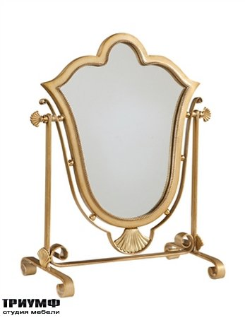 Американская мебель Maitland-Smith - Antique Gold Finished Iron Vanity Mirror with Satina Brass Accents