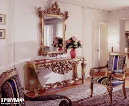 Итальянская мебель Ezio Bellotti - Консоль с резьбой