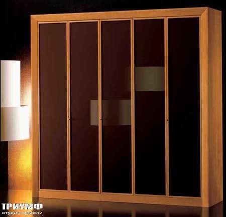 Итальянская мебель Grande Arredo - Шкаф ар деко распашные двери, дерево, стекло