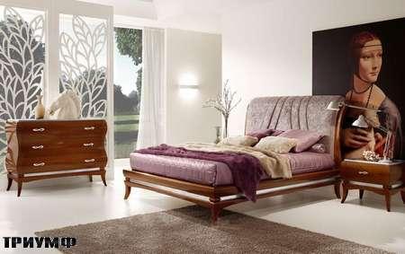 Итальянская мебель Grilli - Кровать с выгнутым изголовьем