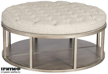 Американская мебель Vanguard - Wayland Round Metal Ottoman