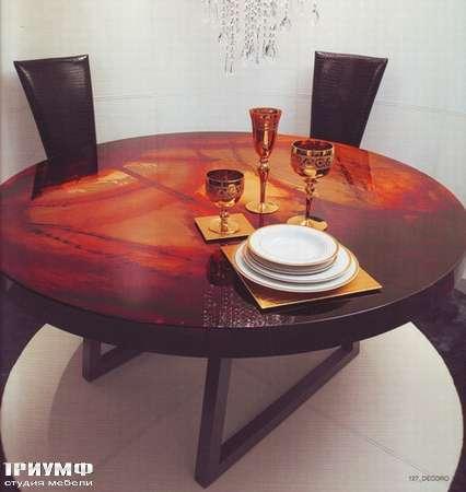 Итальянская мебель Rugiano - Стол Decoro круглый, глянцевый лак