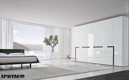 Итальянская мебель Presotto - шкаф Alibi wing двери с врезными ручками