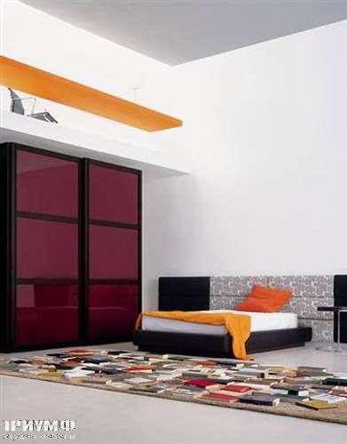Итальянская мебель Pianca - Шкаф Mirage сдвижные двери, стекло и дерево