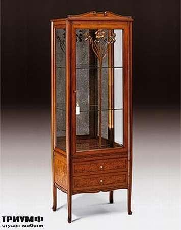 Итальянская мебель Medea - Витрина компактная с 1 дверцей и 2 ящиками,  арт. 978