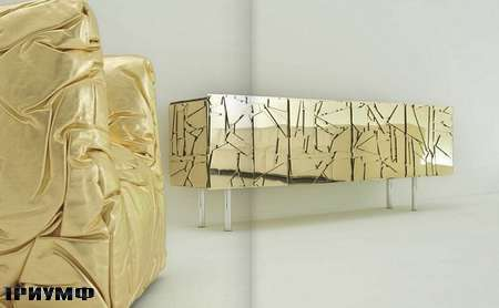 Итальянская мебель Edra - комод Scrigno зеркальный