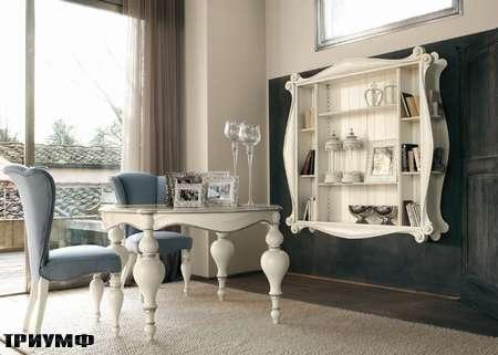 Итальянская мебель Volpi - стол и стеллаж Emma