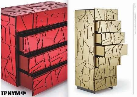 Итальянская мебель Edra - комоды Scrigno из зеркала с ящиками