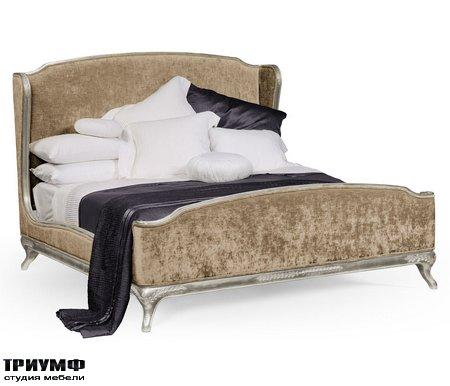 Американская мебель Jonathan Charles - US King Louis XV Silver Leaf Bed
