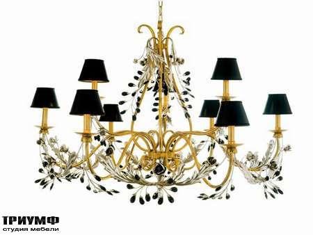 Освещение Eurolampart - Люстра 9 рожковая, с чёрными плафонами, арт. 1093-09l