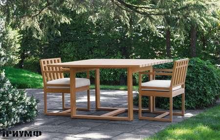 Итальянская мебель Meridiani - стол и стулья OPEN AIR