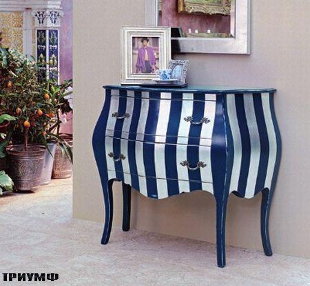 Итальянская мебель Tonin casa - комод в полоску