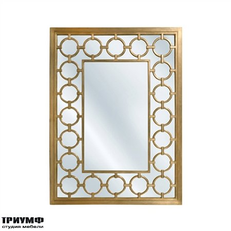 Американская мебель la Barge - Antique Gold Finished Mirror with Carved Circilo Accents