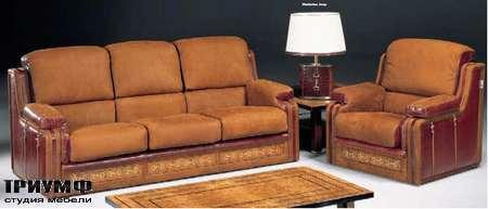 Итальянская мебель Formitalia - Диван и кресло кожаные Rodeo Plus