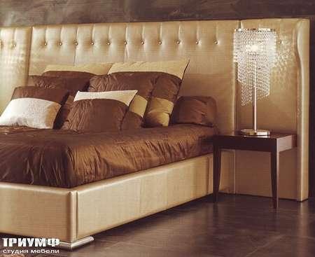 Итальянская мебель Rugiano - Кровать Damasco с широким изголовьем
