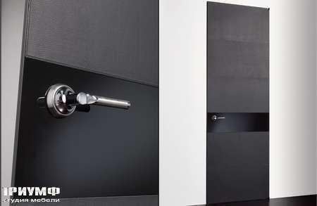 Итальянская мебель Longhi - Дверь распашная Headline, черное стекло