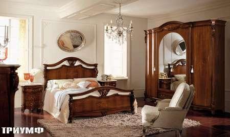 Итальянская мебель Grilli - Двухспальная кровать с радикой