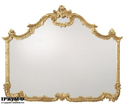 Американская мебель la Barge - Baroque Hand Carved Overmantel Mirror in Antiqued Gold Metal Leaf Finish