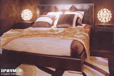 Итальянская мебель Rugiano - Кровать Origami с низким изголовьем