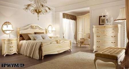Итальянская мебель Grilli - Кровать в отделке декапэ