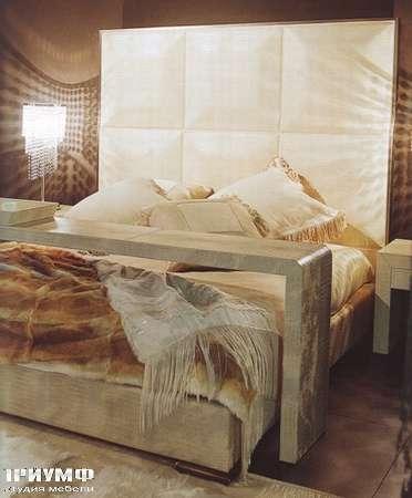 Итальянская мебель Rugiano - Кровать Origami с высоким изголовьем