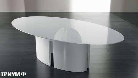 Итальянская мебель Meridiani - стол овальный GONG