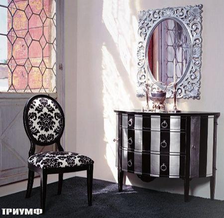 Итальянская мебель Tonin casa - комод полосатый и зеркало