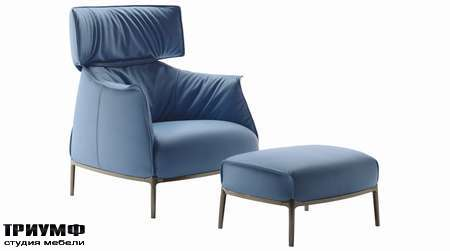 Итальянская мебель Poltrona Frau - кресло, пуф Archibald