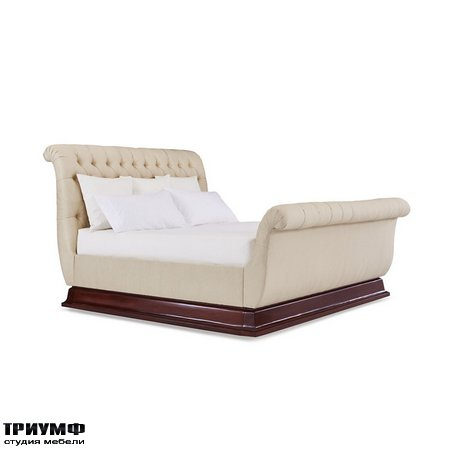 Американская мебель Ralph Lauren Home - MAYFAIR TUFTED BED WITH PLINTH BASE