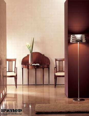 Итальянская мебель Medea - Консоль арт деко с задней стенкой, арт. 425