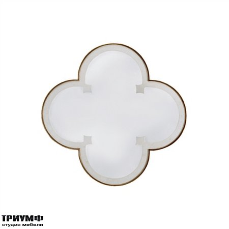 Американская мебель la Barge - Quatrefoil Motif Mirror with White Waxstone Inlay