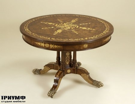 Американская мебель Maitland-Smith - Warm Honey Burnished Center Table