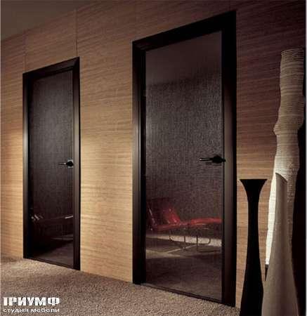 Итальянская мебель Longhi - Дверь распашная Spark стекло, с эффектом шёлка