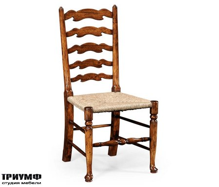 Американская мебель Jonathan Charles - Walnut Country Ladder Back Chair