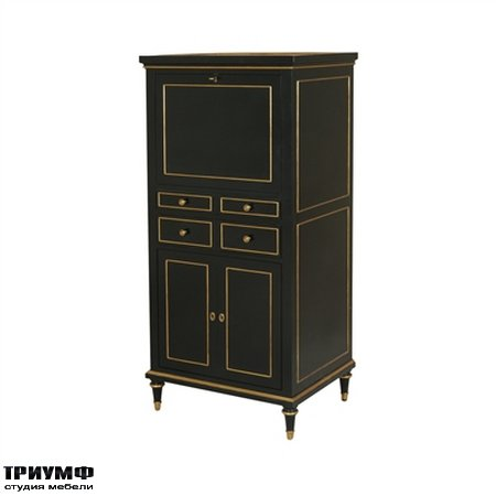 Американская мебель Maitland-Smith - Black Lacquer Finished Bar Cabinet