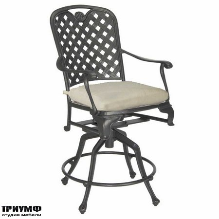 Американская мебель Summerclassics - Provance 24in Swivel Barstool