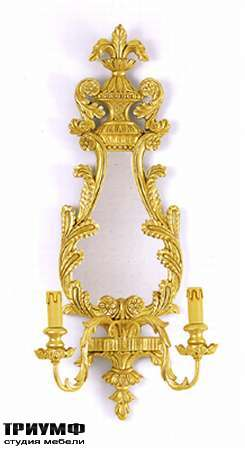 Итальянская мебель Chelini - Бра классическое с зеркалом арт.1020