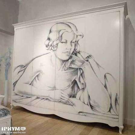 Итальянская мебель Grande Arredo - Шкаф для спальни Icaro с росписью