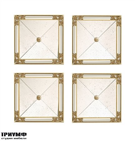 Американская мебель la Barge - Set of Four Square Mirrors