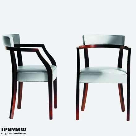 Итальянская мебель Driade - Стул из дерева и белого винила