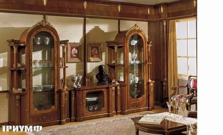 Итальянская мебель Grilli - стенка с витринами