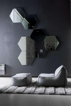 Итальянская мебель Pianca - Кресло и пуф в пухе