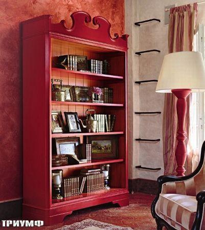 Итальянская мебель Tonin casa - стеллаж из массива дерева, размером 130х40 h=216